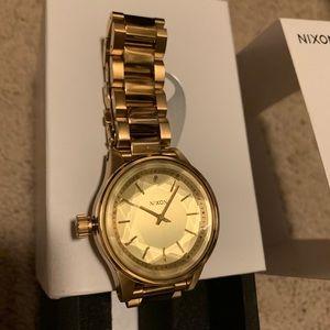 Gold Nixon Watch